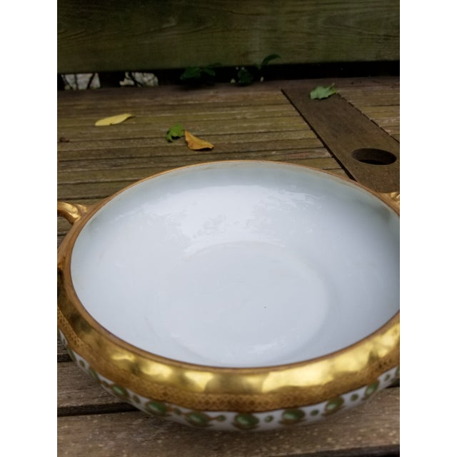 Art Nouveau Antique Limoges Elite Serving Bowl With Handles For Sale - Image 3 of 10