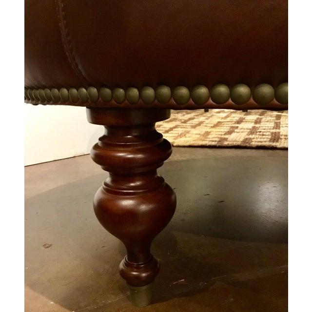 Henredon Leather Granby Ottoman For Sale In Atlanta - Image 6 of 7