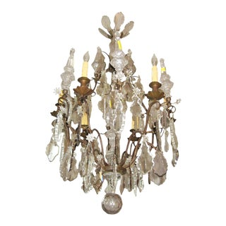 19th Century Baccarat Crystal Chandelier For Sale