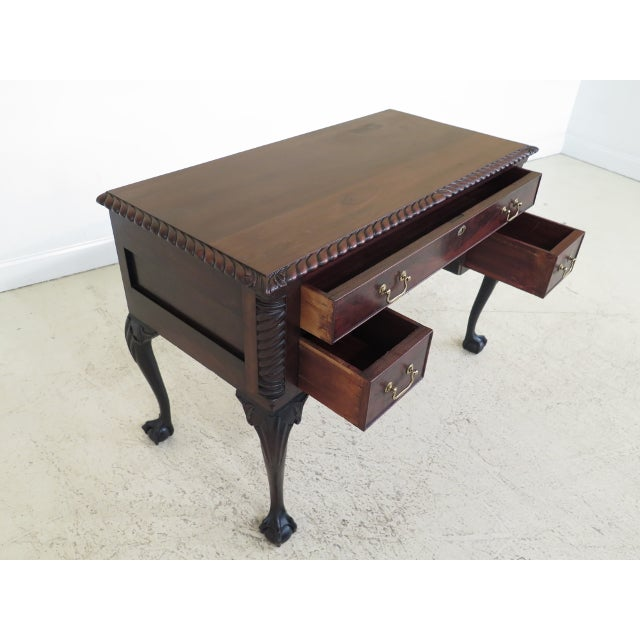 Early 21st Century Chippendale Style Traditional Ball & Claw Mahogany Desk or Vanity For Sale - Image 5 of 13