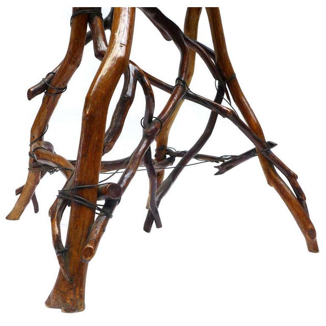 Wood Primitive Twig High Chair For Sale - Image 7 of 9