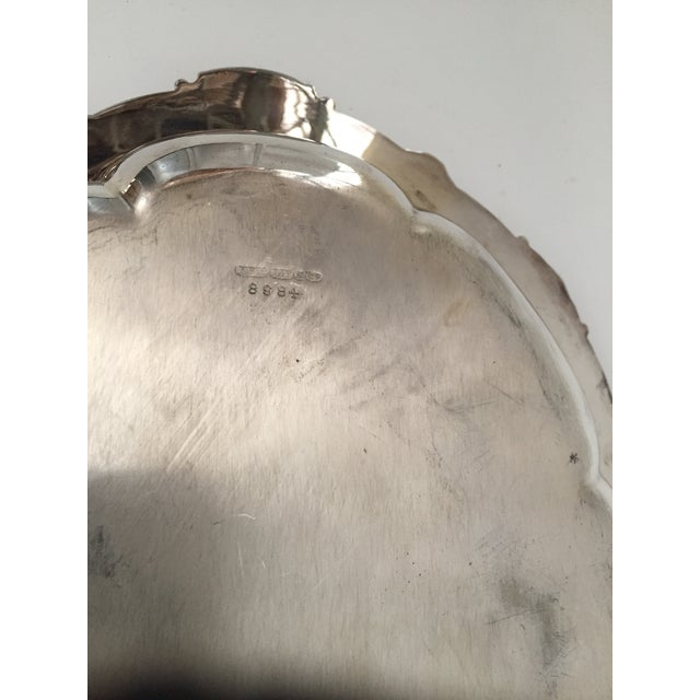 Antique Sheffield Silver Plate Scroll Borders & Armorial Crest Serving Dish With Cover For Sale - Image 6 of 12