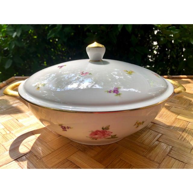 """Haviland & Co. Haviland """"Rose Chintz"""" Gilt Floral Porcelain Vegetable Tureen For Sale - Image 4 of 12"""