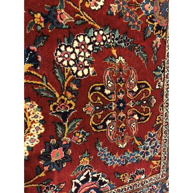 Antique Oversize Persian Kashan Carpet For Sale - Image 4 of 4