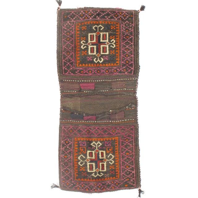 "Vintage Persian Saddlebag - 2'1"" X 4'0"" For Sale"