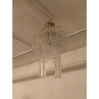 Round Mid-Century Italian Tronchi Glass Chandelier Preview