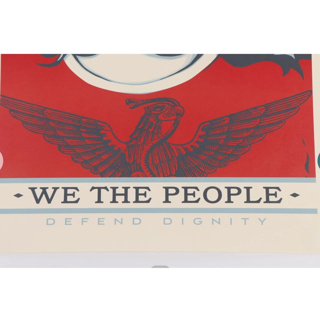 "Contemporary Three Shepard Fairey Serigraph Prints ""We the People"" For Sale - Image 3 of 13"