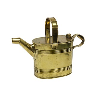 19th Century Antique English Victorian Brass Water Can For Sale