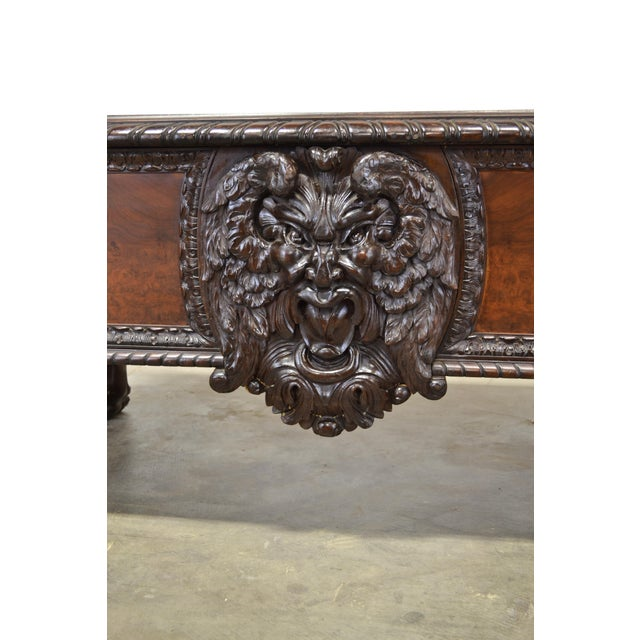 1920s 1920s Antique German Carved Lion Desk For Sale - Image 5 of 7