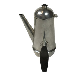 Mid-Century Art Deco Modern Sterling Silver-With Rosewoods Handle Coffee Pot Signed William Spratling For Sale