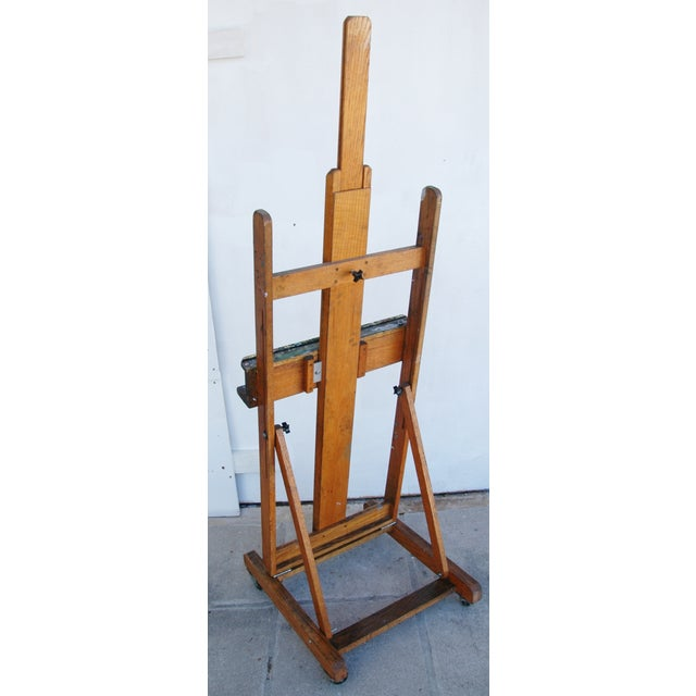 Vintage Adjustable Oak Artist's Easel - Image 7 of 11
