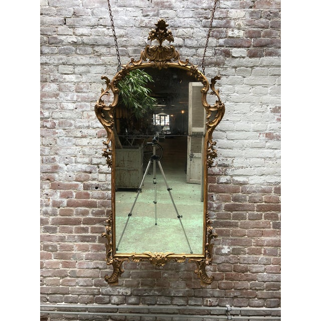 A Fine Italian Rococo Giltwood Mirror, Mid-18th Century,Tuscany For Sale - Image 6 of 8