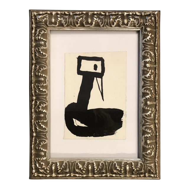 Original Vintage Robert Cooke Miniature Abstract Duck Painting For Sale