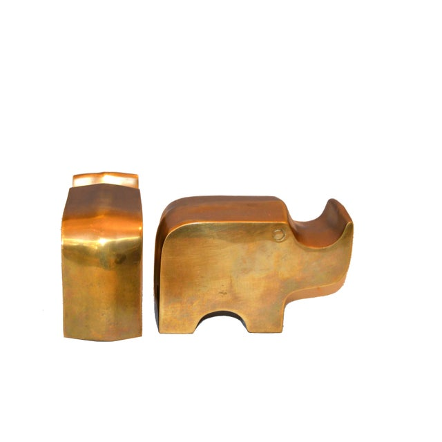 Bronze Mid-Century Modern Bronze Rhinoceros Bookends in the Manner of Fratelli Mannelli For Sale - Image 7 of 11
