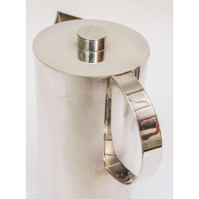 Silver Silver Plate Swid Powell for Calvin Klein Three-Piece Coffee Service For Sale - Image 8 of 11