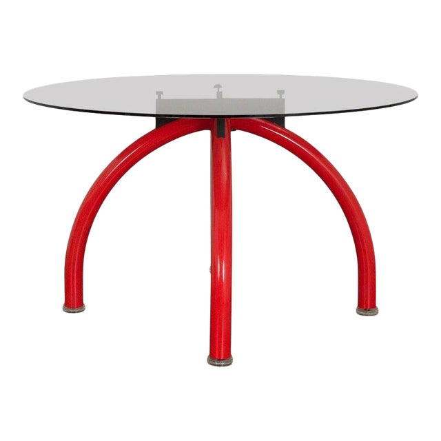 1980s Ettore Sottsass Red Spyder Dining Table For Sale