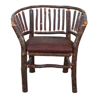 Late 20th Century Apple Wood Single Cabin Chair For Sale