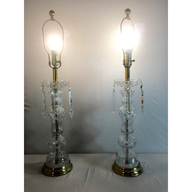 1950's Italian Lead Crystal Table Lamps - A Pair - Image 3 of 9