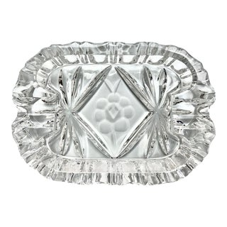 Art Deco Crystal Ash Tray For Sale