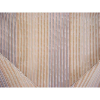 Brunschwig and Fils Galway Stripe Blue Grey Natural Upholstery Fabric - 4 Yards For Sale