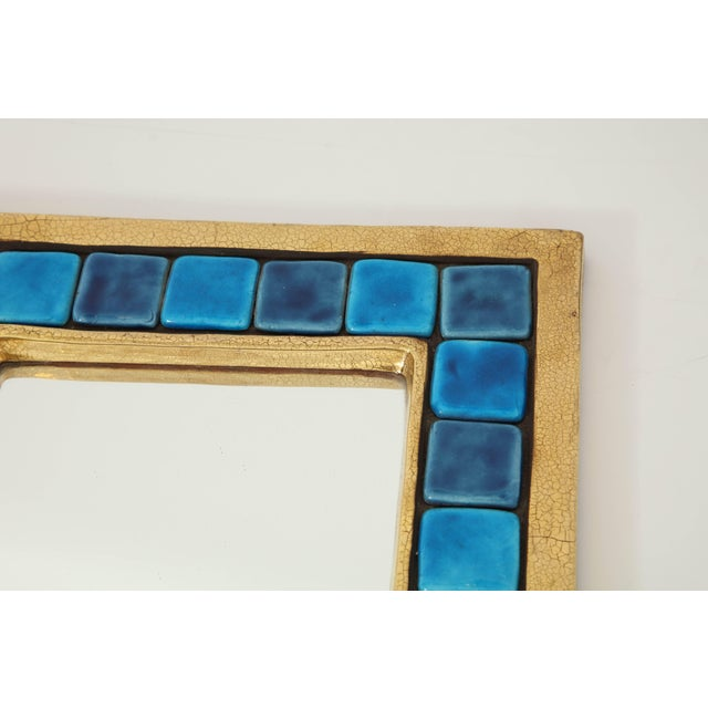 Glass Francois Lembo Mirror For Sale - Image 7 of 9