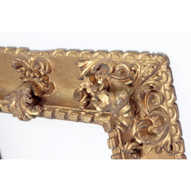 Gold Rare 17th Century Giltwood Italian Picture Frame For Sale - Image 8 of 11