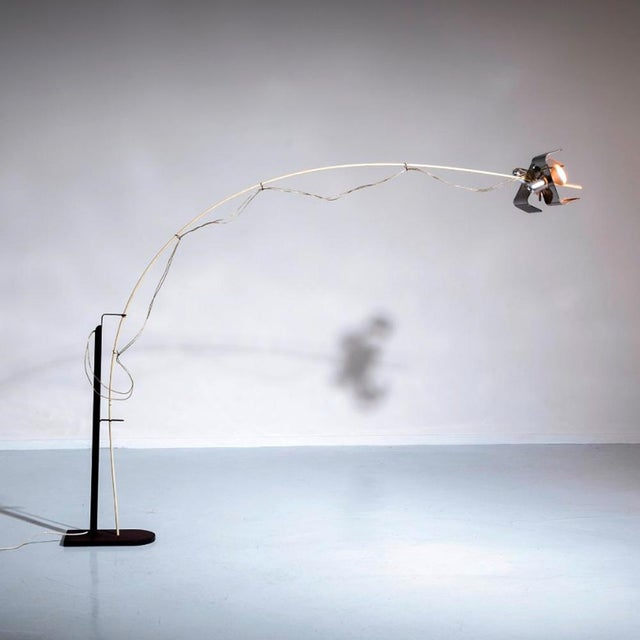 Industrial L' Amo Floor Light by Valmassoi Conti For Sale - Image 3 of 4