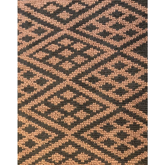 Heavy Knit Brown and Tan Geometric Rug For Sale - Image 12 of 13