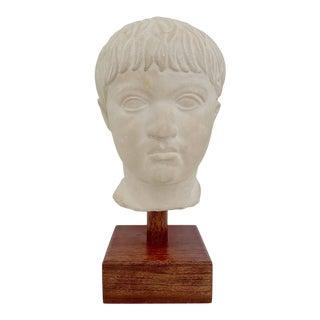 Vintage Neoclassical Roman Bust Sculpture For Sale