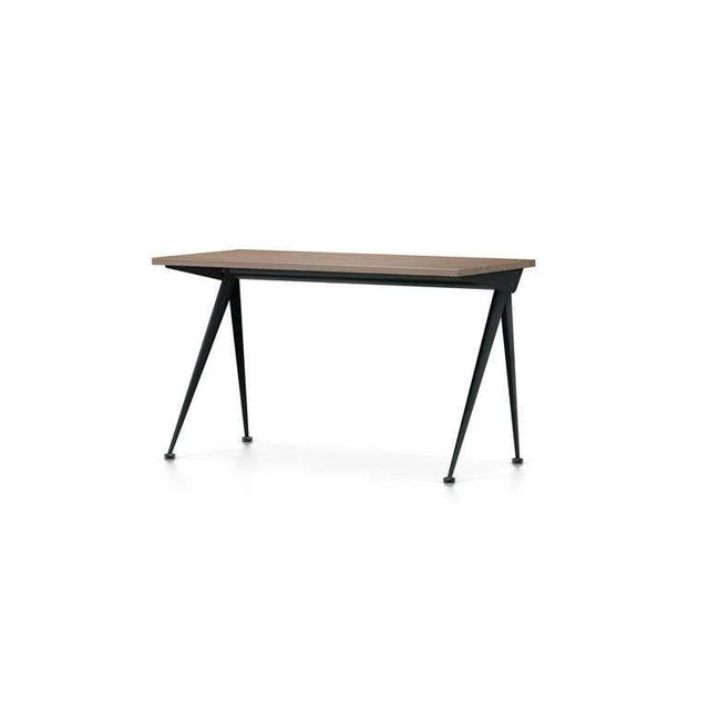 Tan Jean Prouvé Compas Direction Desk in Natural Oak and Black Metal for Vitra For Sale - Image 8 of 9