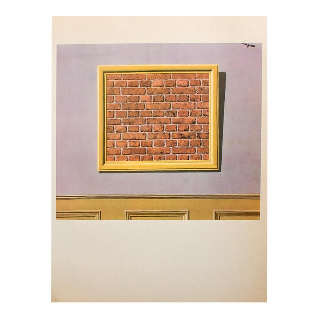 """1972 Rene Magritte, """"The Empty Picture Frame"""" Original Photogravure For Sale"""