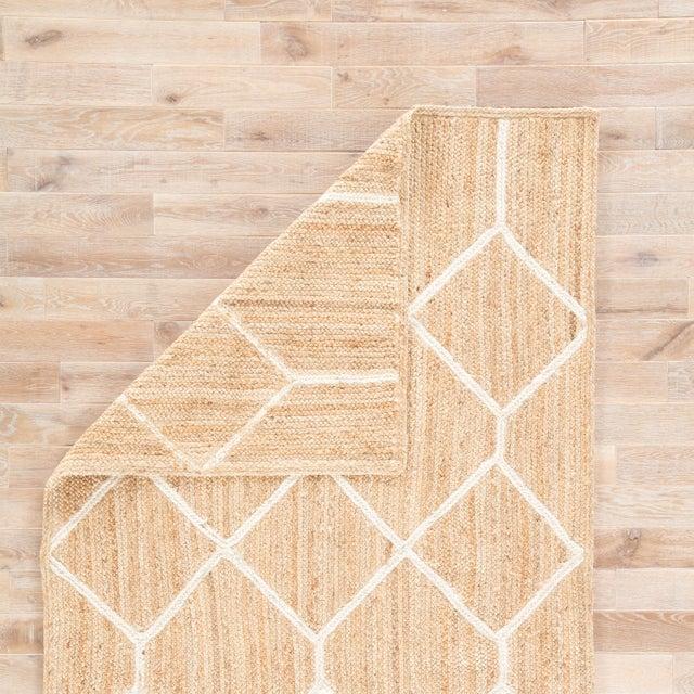 Nikki Chu by Jaipur Living Aten Natural Trellis Beige/ White Area Rug - 8′ × 10′ For Sale - Image 4 of 6