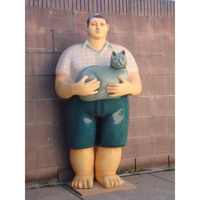 Farmhouse Signed Sergio Bustamante Papier Mache Boy Sculpture For Sale - Image 3 of 3