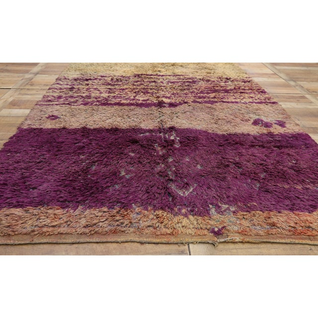 Vintage Berber Moroccan Rug With Postmodern Memphis Style - 05'10 X 10'02 For Sale - Image 9 of 12