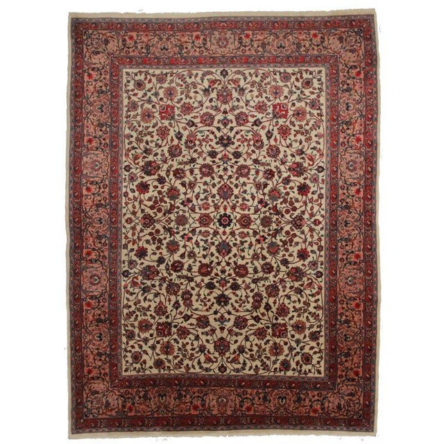"Persian Mashad Rug - 10' x 14'3"" For Sale"