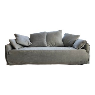 Industry West Positano Linen Slipcover Sofa For Sale