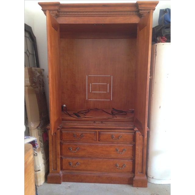 """Traditional Hickory White """"Hampton Roads"""" Armoire For Sale - Image 3 of 3"""