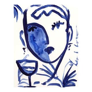 Flowers and Wine in Indigo II