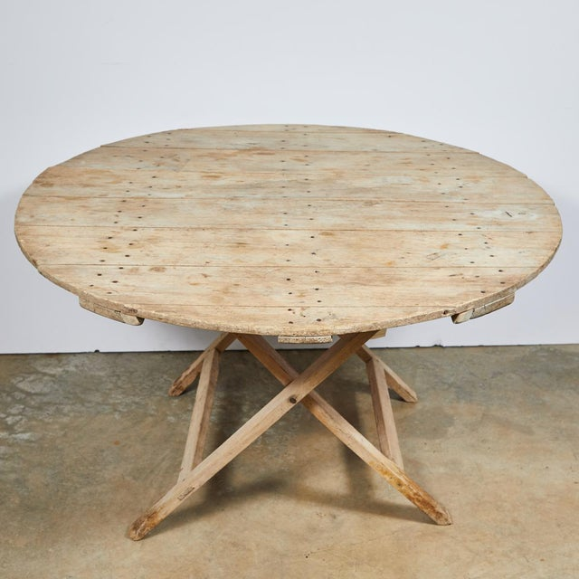 Late 19th Century French Country Folding Champagne Table in Oak For Sale - Image 4 of 6