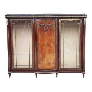 1700s Regency Louis XVI Style Burlwood Cabinet 18th Century France For Sale