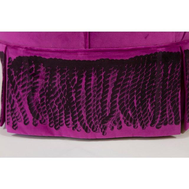 """""""Minna"""" Velvet Boudoir Chair For Sale - Image 9 of 10"""