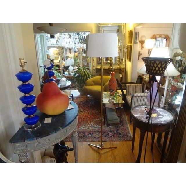 Mid-Century Modern Paul McCobb Style Brass Tripod Floor Lamp For Sale In Houston - Image 6 of 12