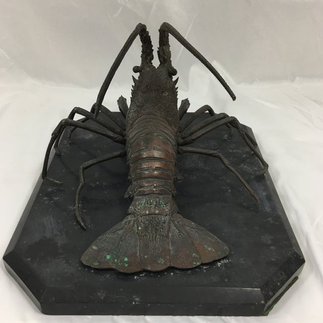 1940s Cast Bronze French Lobster For Sale - Image 5 of 6