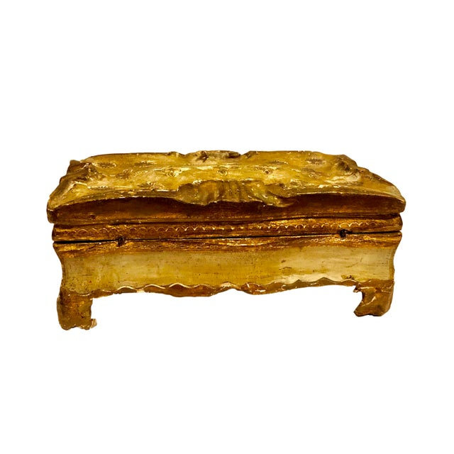 Antique Gold Turn of the Century Florentine Box For Sale - Image 4 of 9
