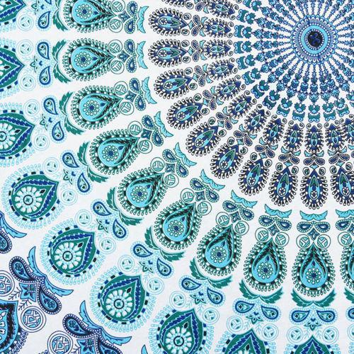 Boho Blue & White Beach Blanket - Image 2 of 4