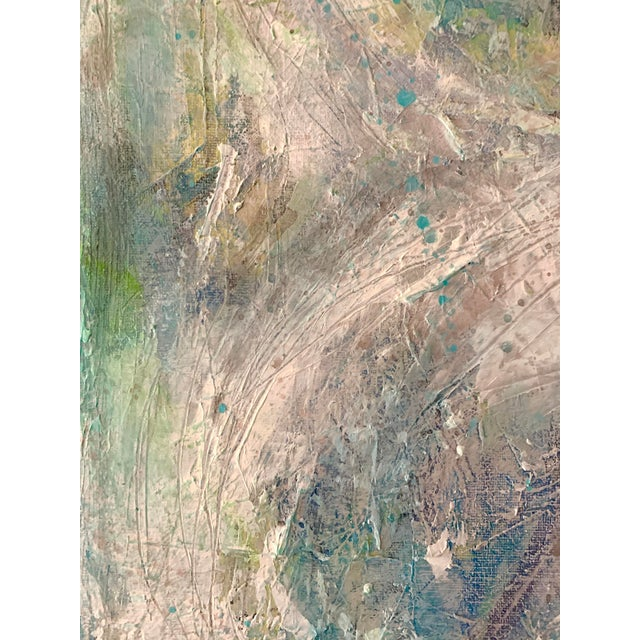 """Abstract Original Mixed Media Painting, """"Cosmic Swirls"""" For Sale - Image 3 of 11"""