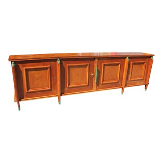 1930s Art Deco Leon Jallot Cherry Wood Sideboard/Buffet For Sale