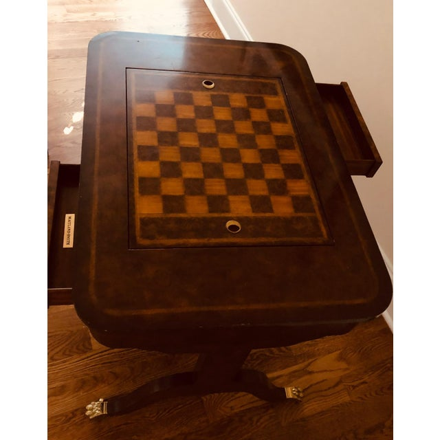 1990s Maitland-Smith English Regency Game Table For Sale In Greensboro - Image 6 of 13