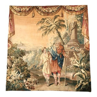18th Century French Aubusson Mythological and Scenic Tapestry Composition For Sale