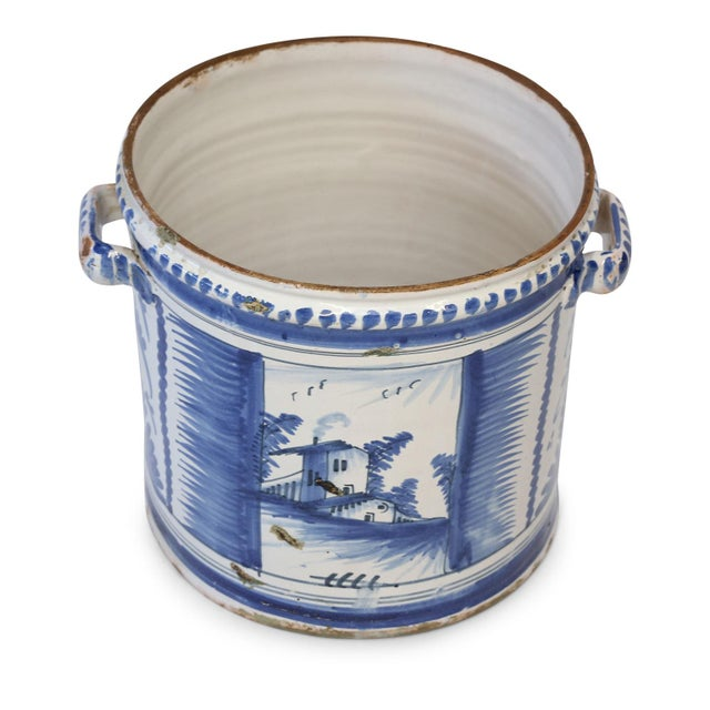 Blue Nevers Faience 'Pot a Oranger' For Sale - Image 8 of 13